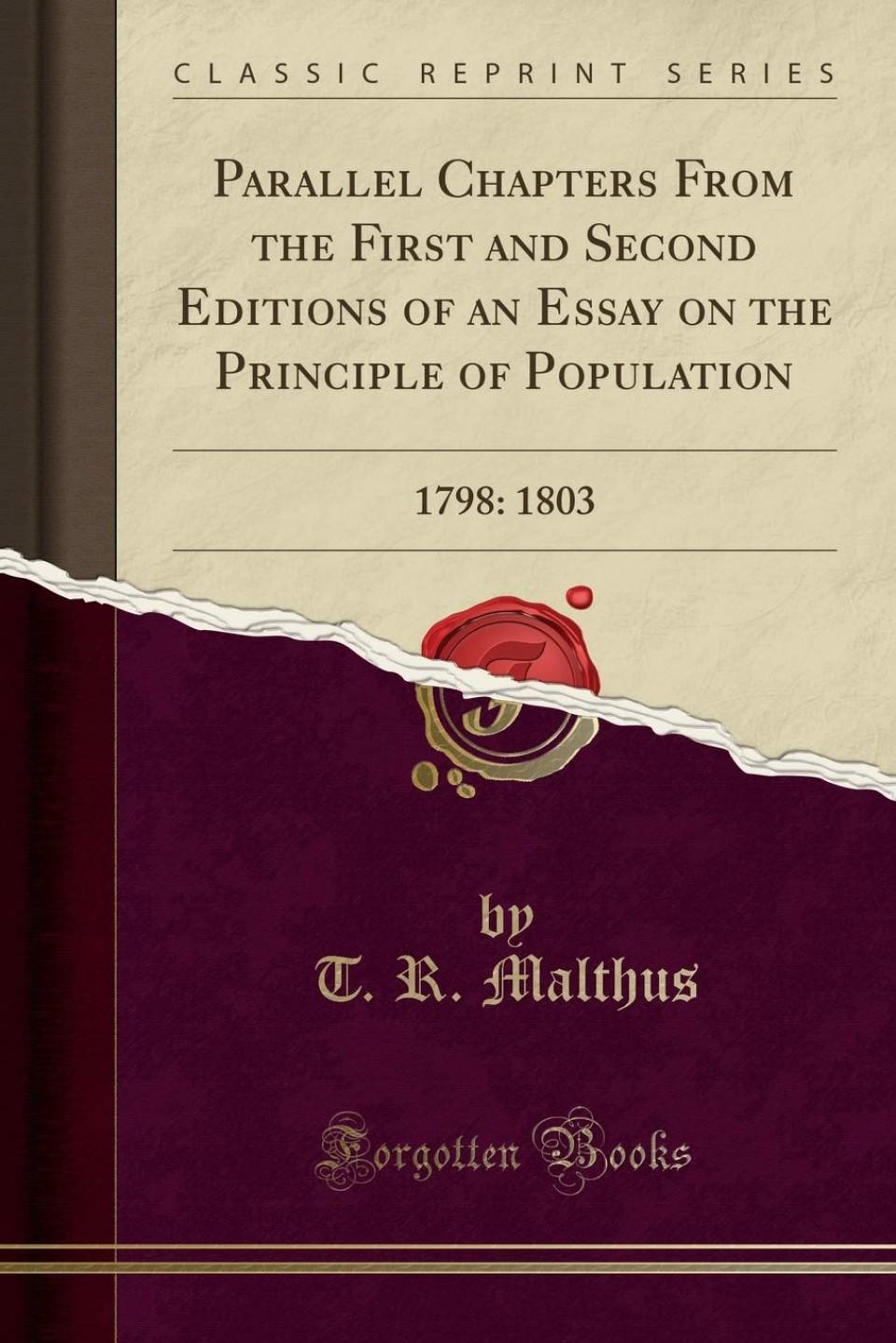 017 61xy24cllwl Essay On The Principle Of Population Singular Malthus Sparknotes Thomas Main Idea 960