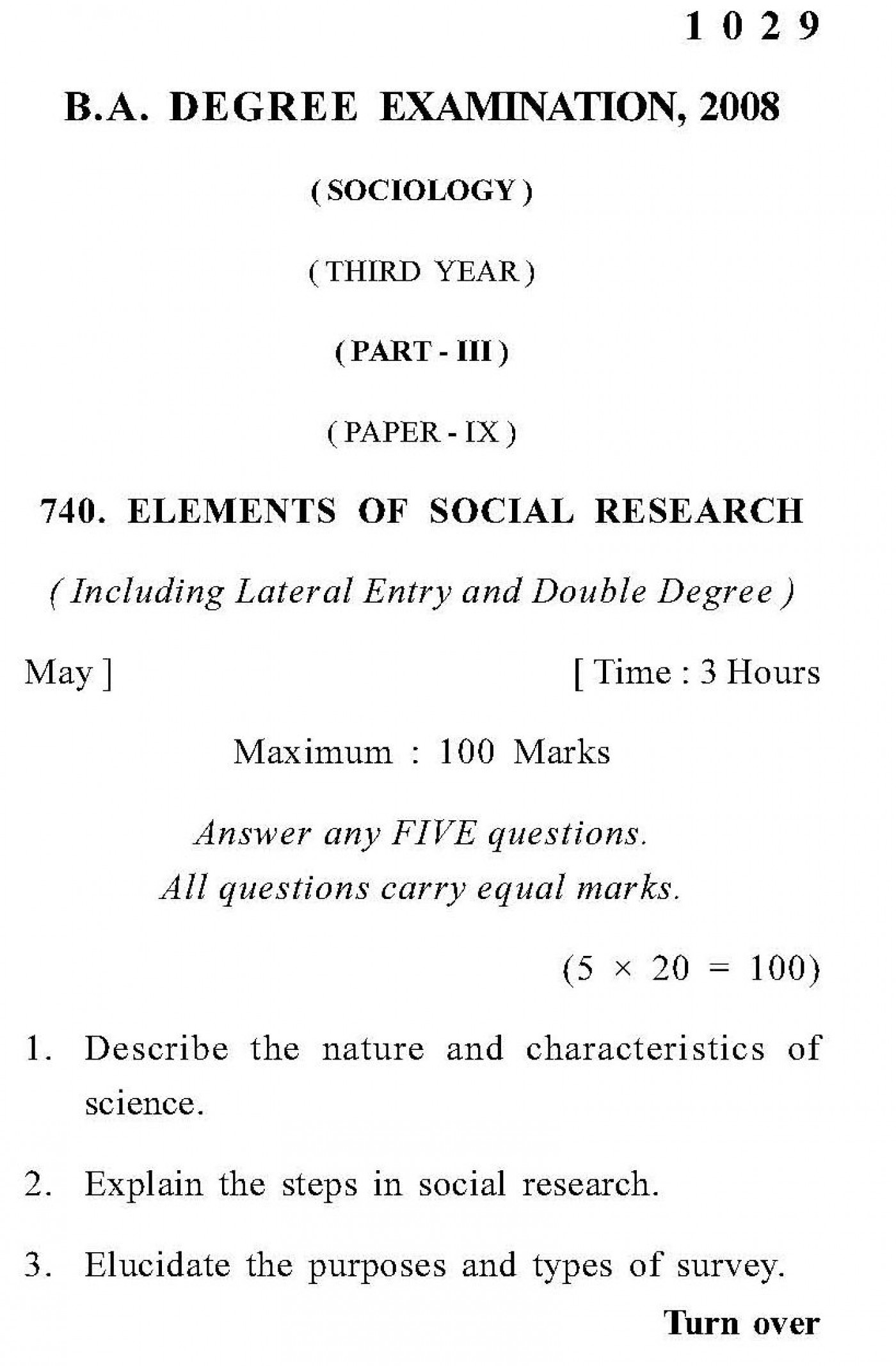 Dissertation questions for sociology