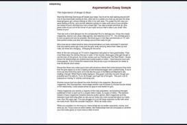 017 Argumentative Essay Sample Samples Excellent Examples For College Students Ielts Pdf Template