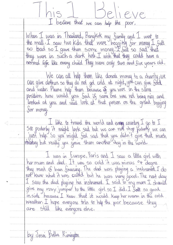 Good student essay