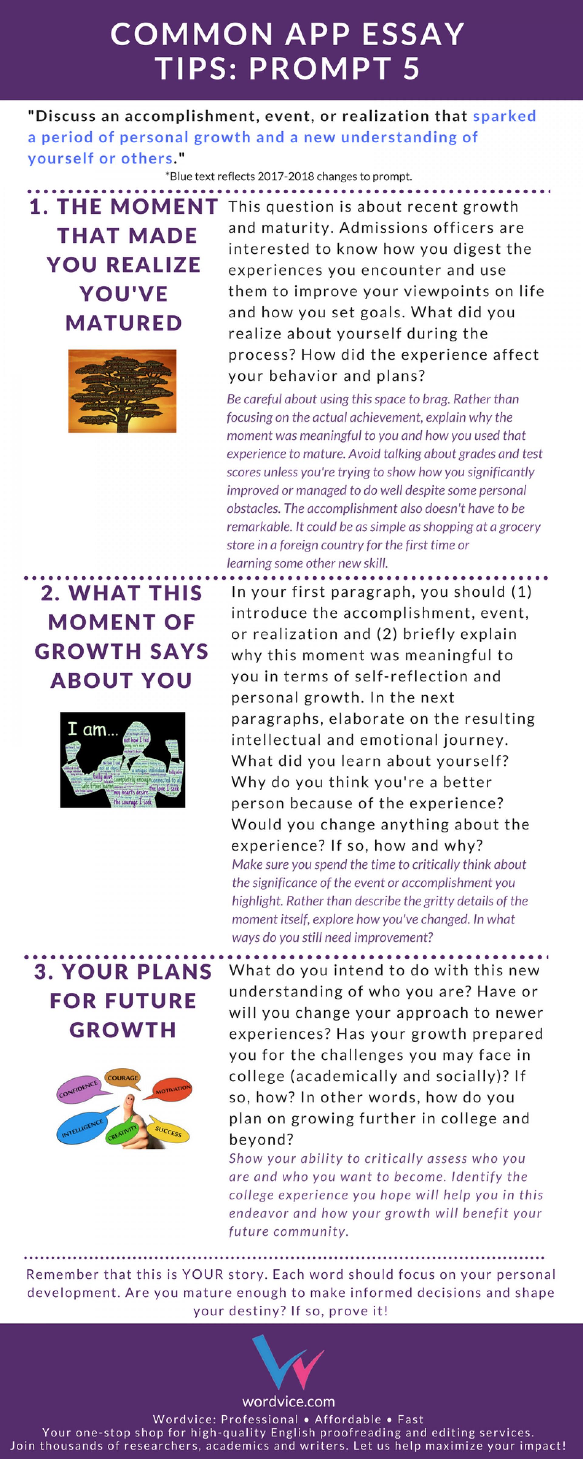 017 Common App Brainstormprompt Essay Prompt Unusual Examples 6 1 Sample 1920