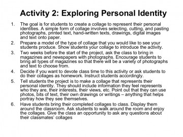 expository essay on identity