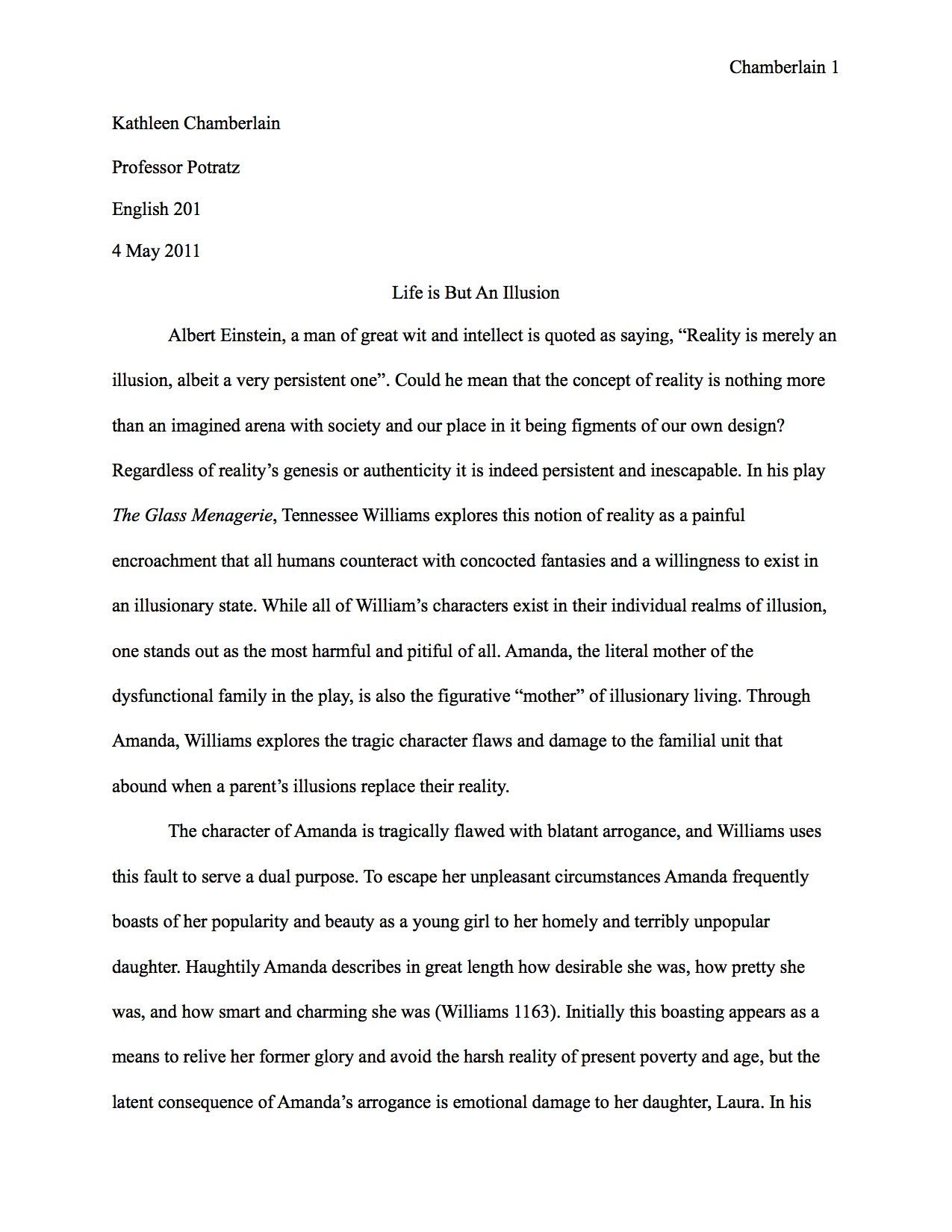 drama writing examples