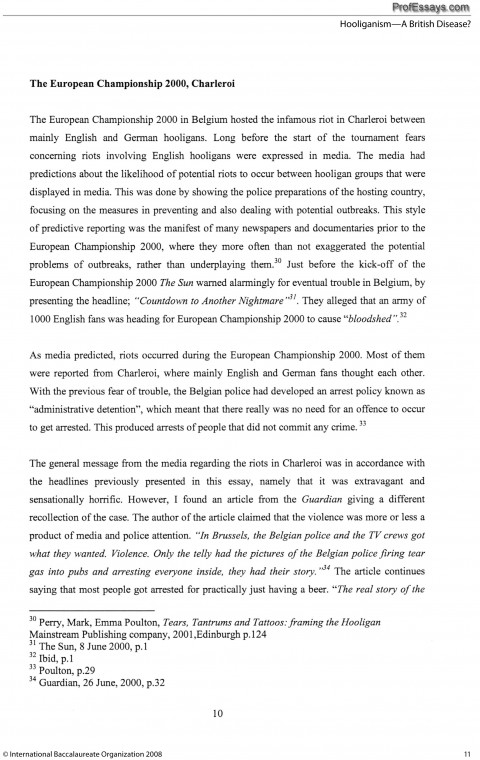 Topics for english essays