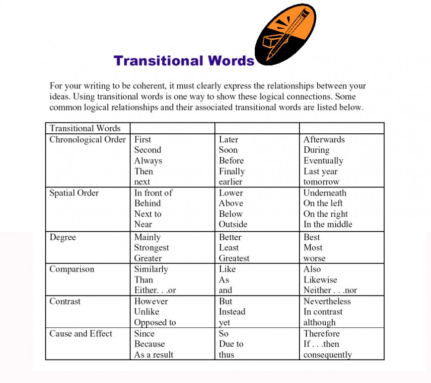 017 Essay Example Comparison Transition Words Stirring
