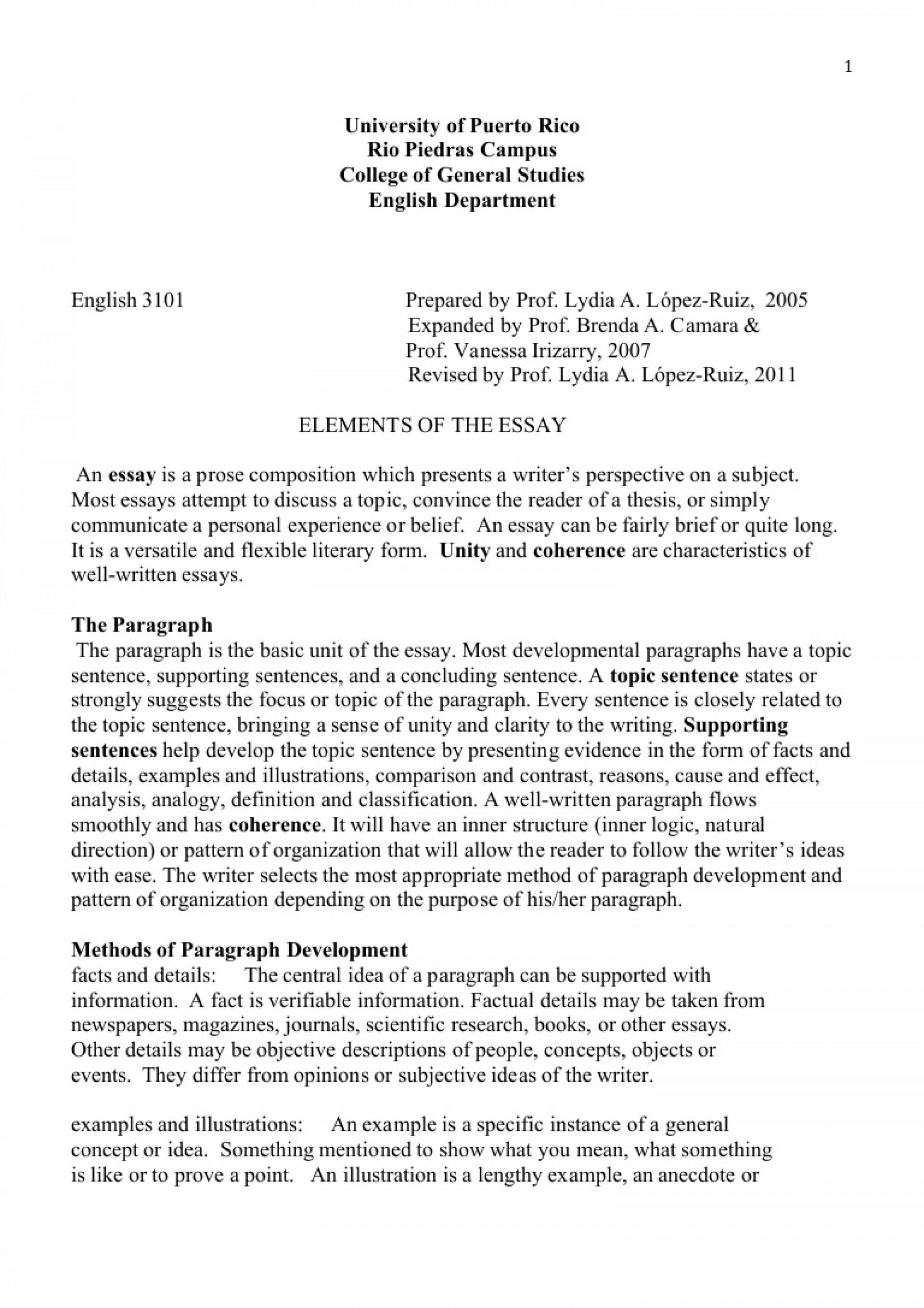 017 Essay Example Concept Topics Ll Vi Elementsoftheessay Phpapp01 Thumbnail Rare Explanation Explaining A 1920