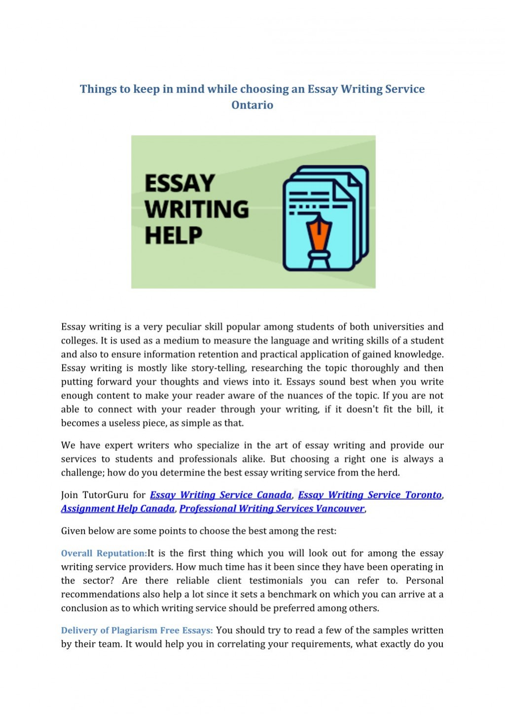 017 Essay Example Free Writing Service Things To Keep In Mind While Choosing An Shocking Draft Online Uk Large