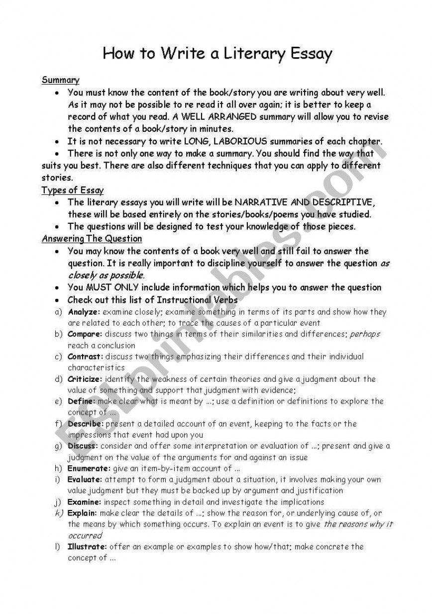 017 Essay Example How To Write Literary Step By 241497 1 A Outstanding Pdf Response Literature
