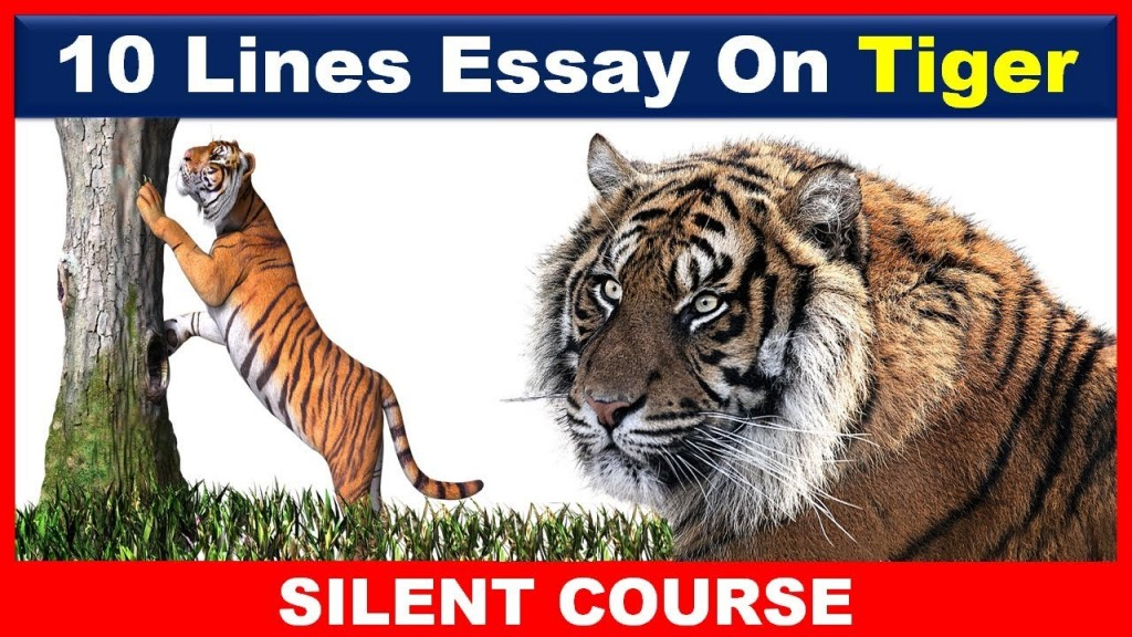 017 Essay Example On Tiger Astounding Shroff Hindi For Class 1 National Animal In Large