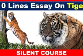 017 Essay Example On Tiger Astounding Shroff Hindi For Class 1 National Animal In