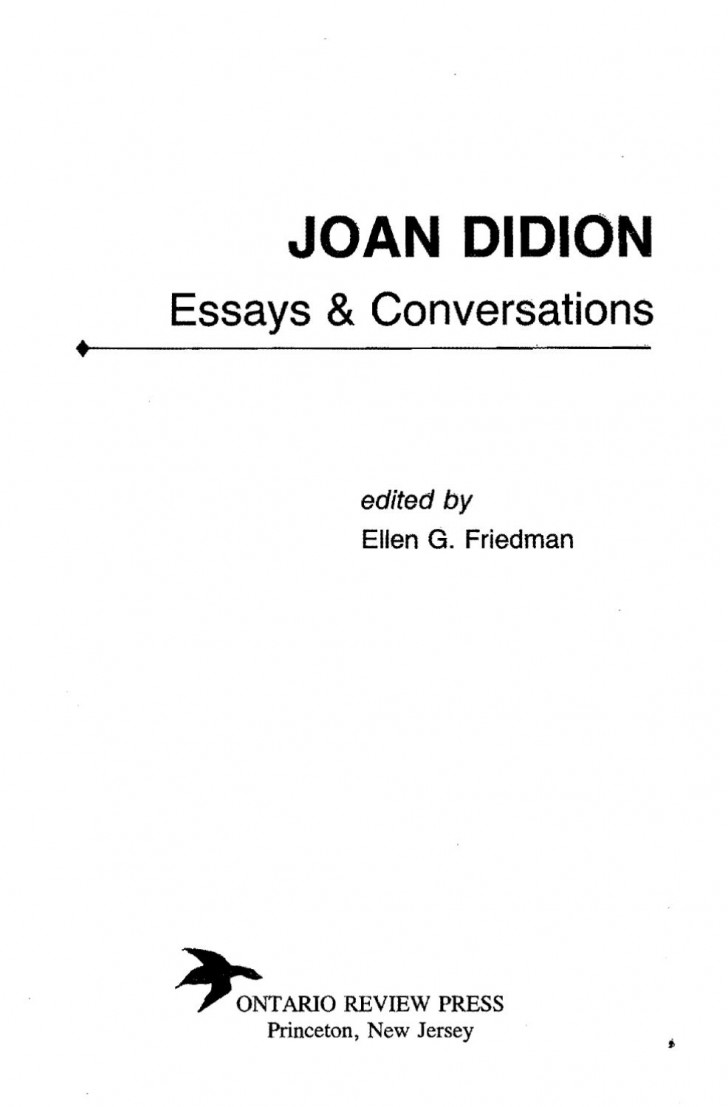 017 Essay Example Page 1 Joan Didion Singular Essays Collections On Santa Ana Winds Amazon 728