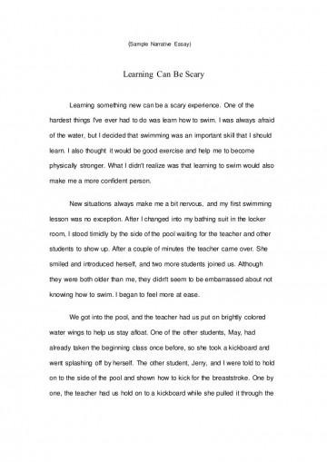 017 Essay Example Samplenarrativeessay Lva1 App6891 Thumbnail Writing Amazing A Narrative Pdf Sample High School Personal Outline 360