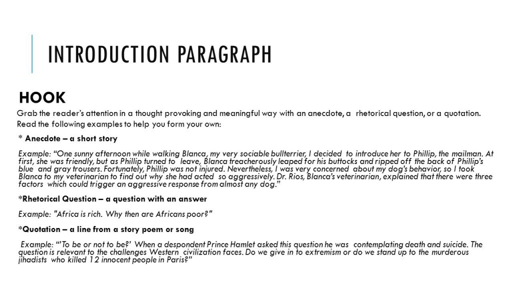 017 Essay Example Slide 3 What Is Hook Excellent A In An Expository Examples Large