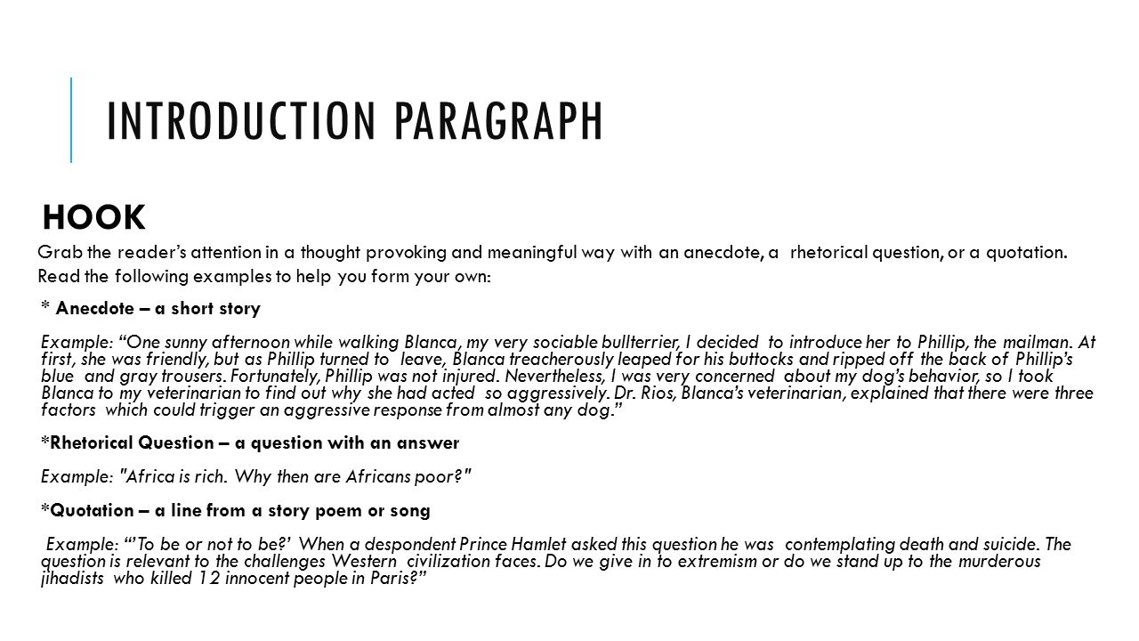 017 Essay Example Slide 3 What Is Hook Excellent A In An Expository Examples Full