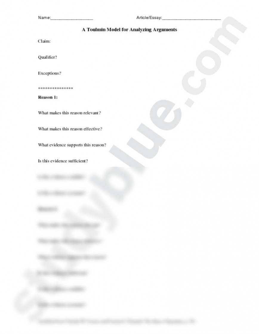 017 Essay Example Toulmin Striking Outline Method