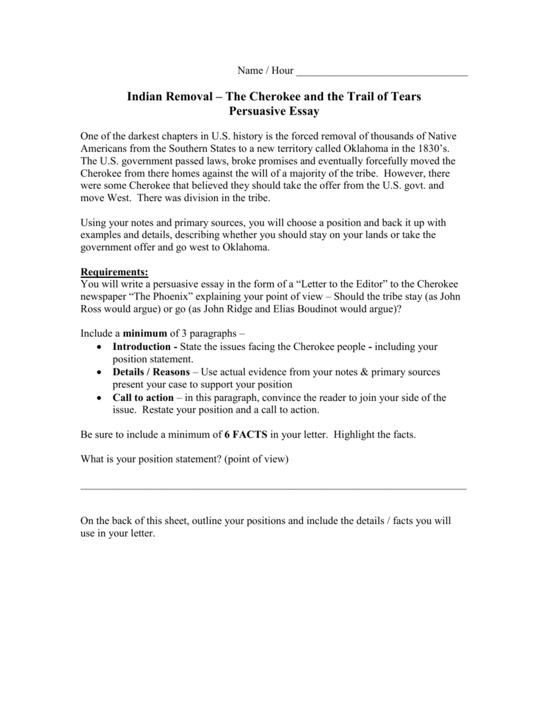017 Essay Example Trail Of Tears 009045159 1 Fantastic Dbq Thesis Writing Prompt Full