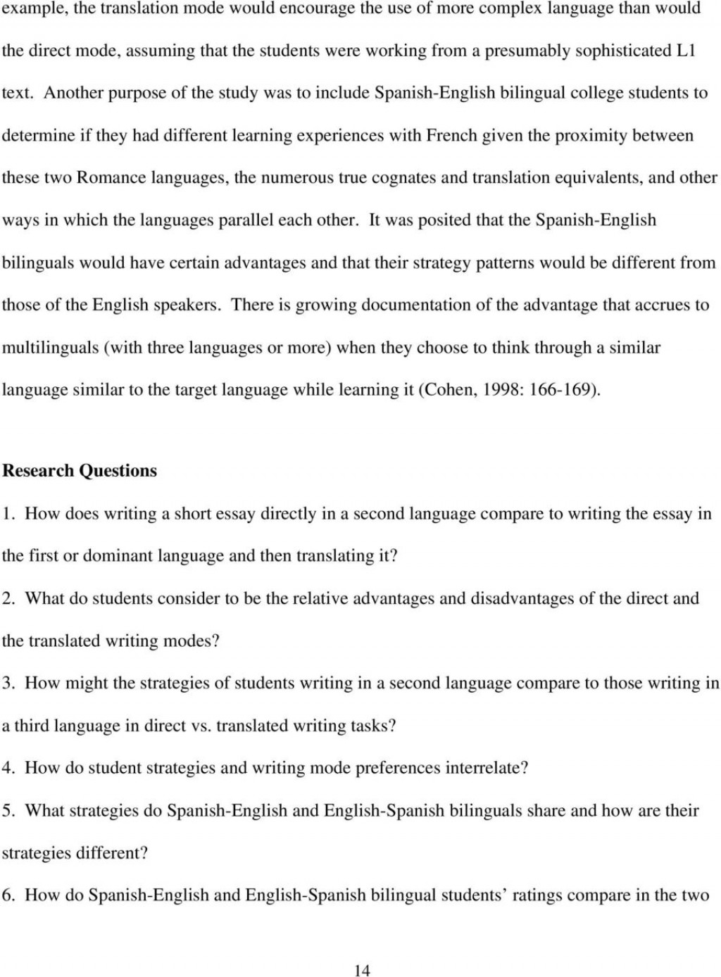 017 Essay Example What Is In Spanish Direct Vs Translated Writing Students Do And Write My Paper Pa For Imposing English From Called Large