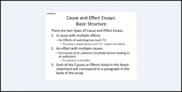 017 Essay Topics Cause And Effect Structure Archaicawful For High School English Kids Grade 8 Pdf 360