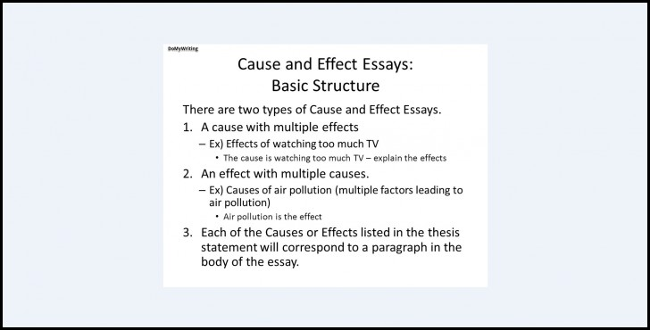 017 Essay Topics Cause And Effect Structure Archaicawful For High School English Schoolers Grade 8 728