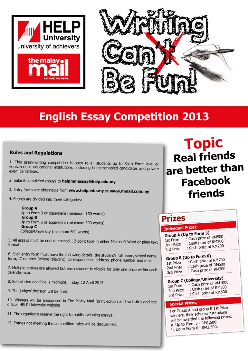 017 Essay Writing Contest Example Competitions For College Students Incredible Contests Middle School Thepensters 2018
