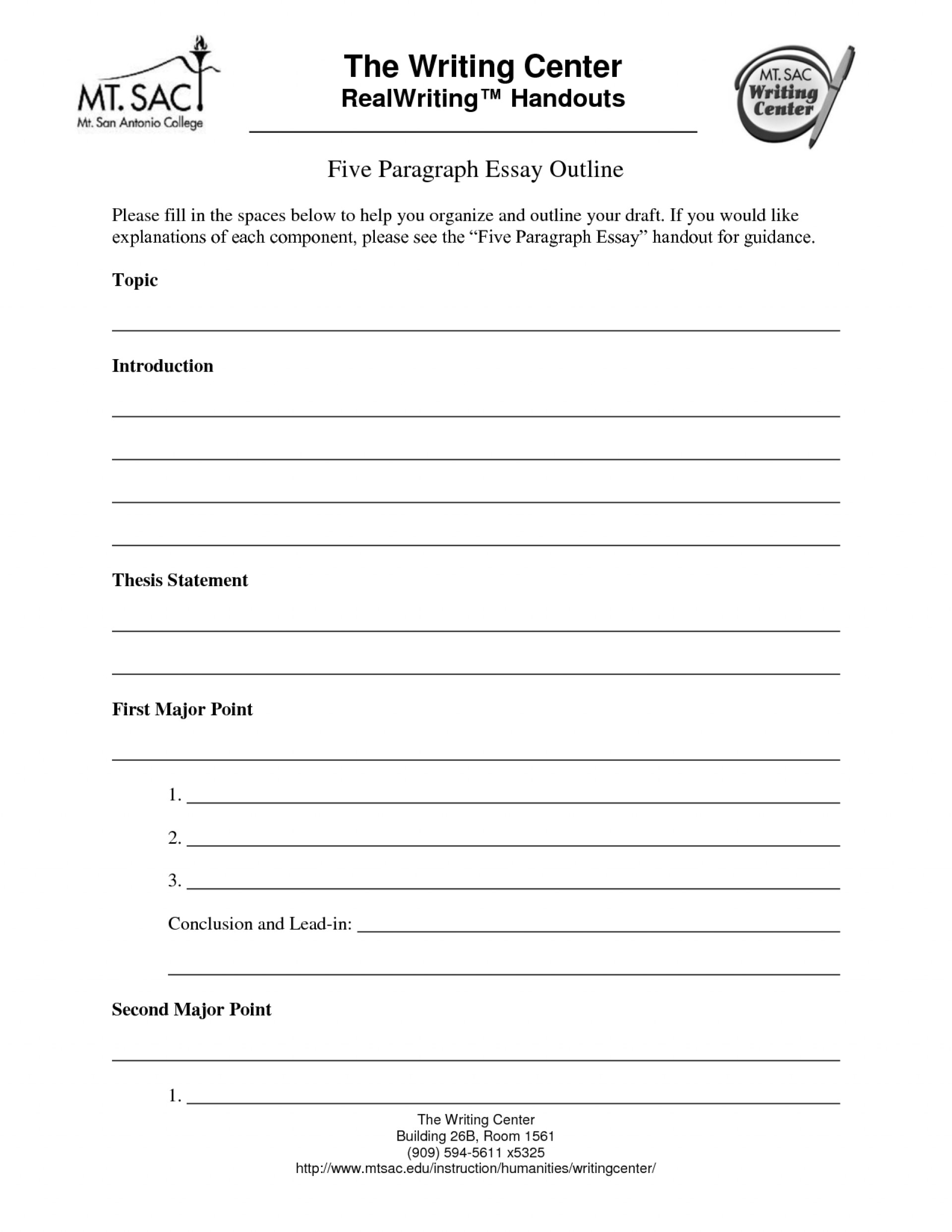 017 Five Paragraph Essay Outline Template 295989 Impressive 5 Printable Worksheets Example 1920