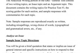 017 Gre Argument Essay Template Analytical Writing Samples Frightening Example