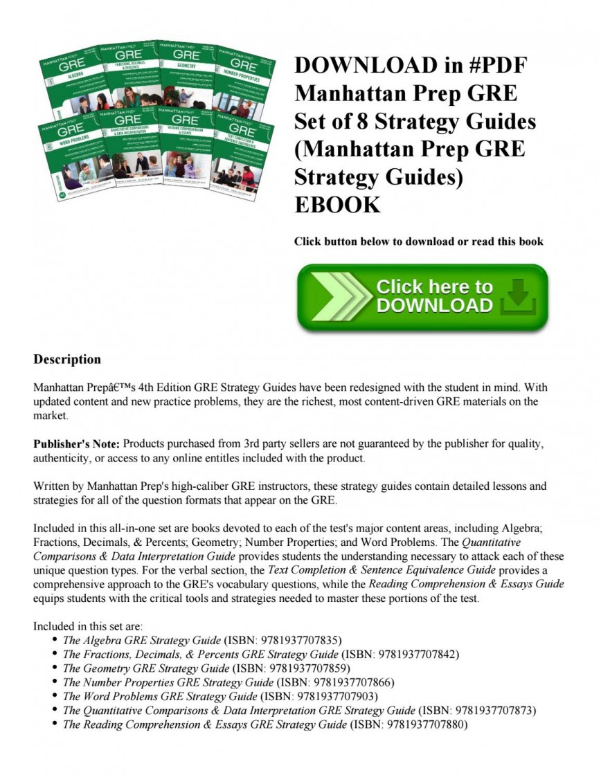 017 Gre Essay Book Pdf Page 1 Incredible Analytical Writing 868