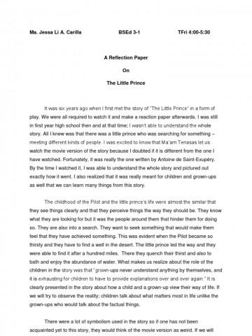 004 Essay Example Reflective Format Unique Informal