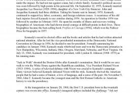017 Jfkmlashortformbiographyreportexample Page 2 Essay Example Dreaded Biographical College Examples High School