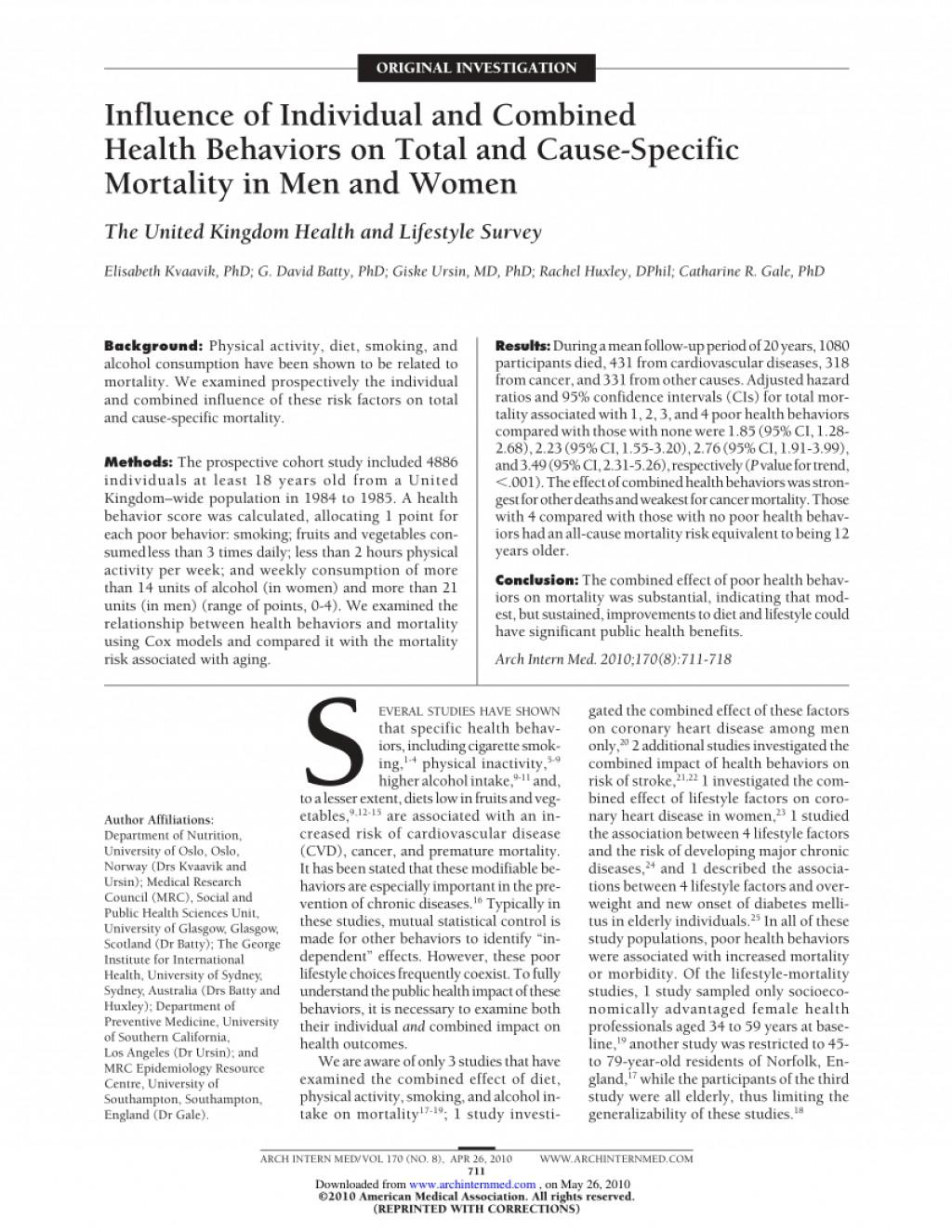 017 Lifestyle And Cardiac Health Essay Example Beautiful Large