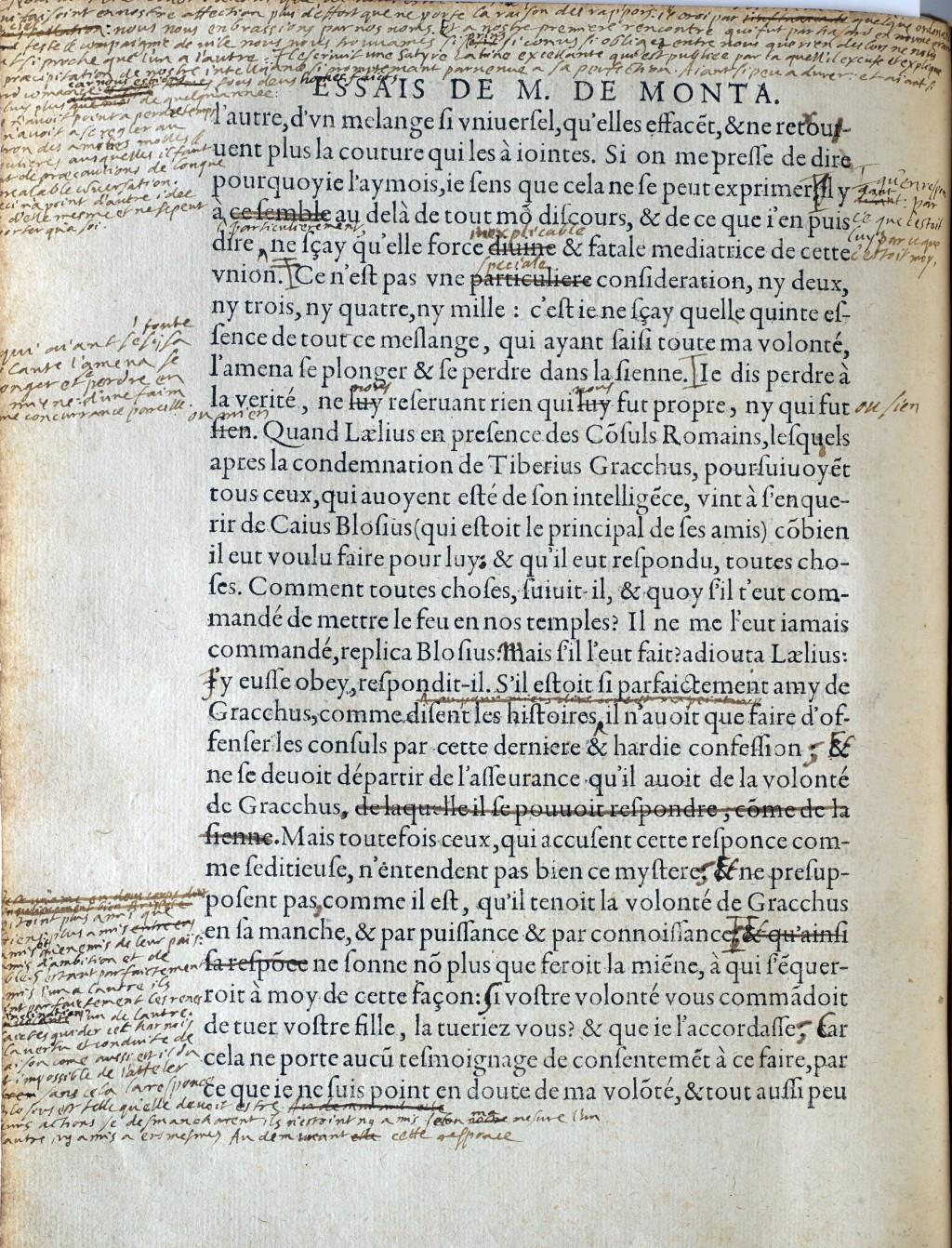 017 Montaigne Essais Manuscript Essays Summary Essay Astounding On Experience Repentance Cannibals Large