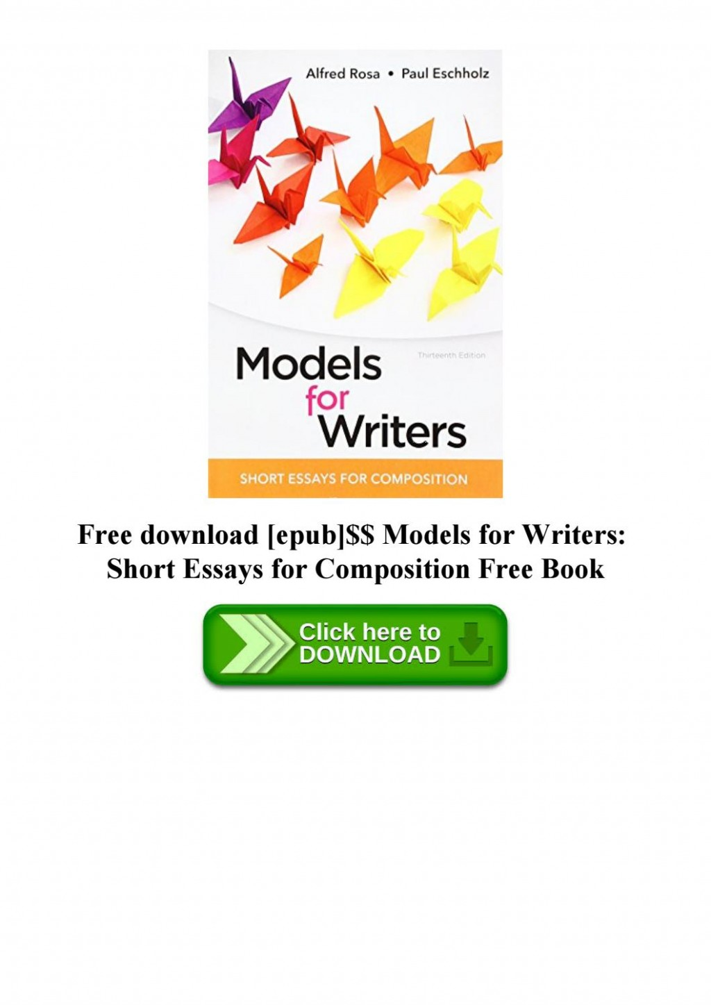017 Page 1 Essay Example Models For Writers Short Essays Singular Composition 12th Edition Pdf 13th Large