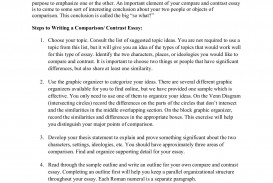 017 Sample Compare And Contrast Essay Archaicawful Pdf High School College For 5th Grade