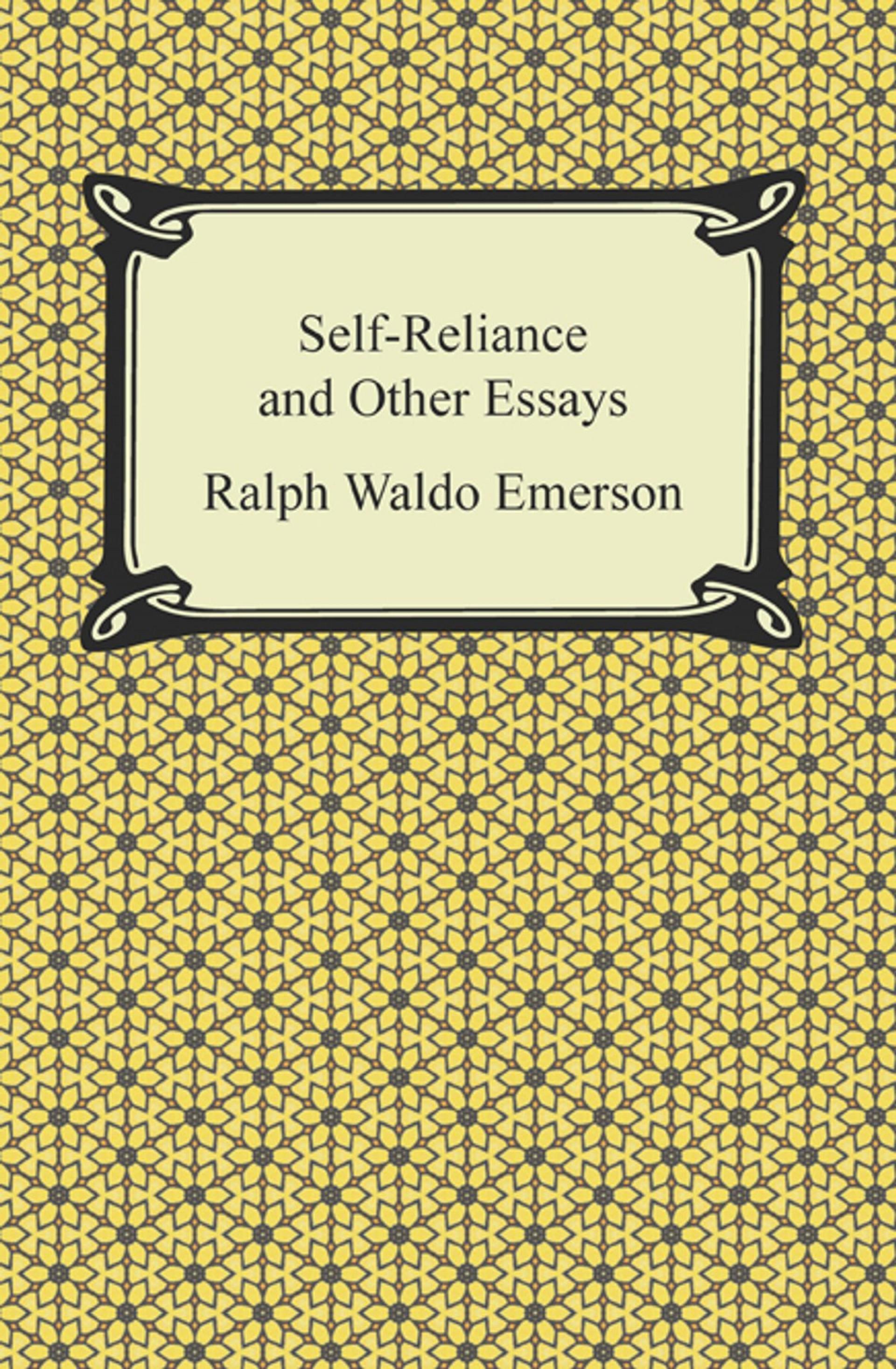 017 Self Reliance And Other Essays Essay Example Formidable Ralph Waldo Emerson Pdf Ekşi 1920