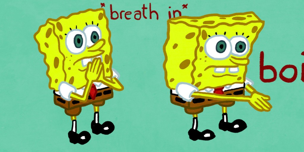 017 Spongebob Essay Meme Stirring Generator Font Large