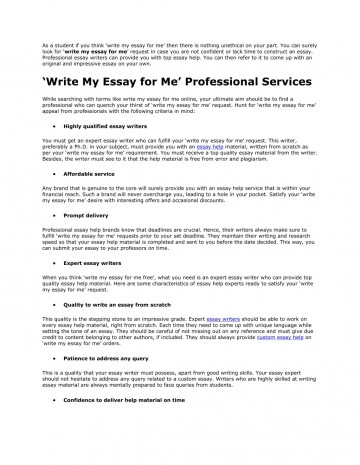 017 Write My Essay For Me Example As Student If You Think Surprising Please Generator Free Online 360