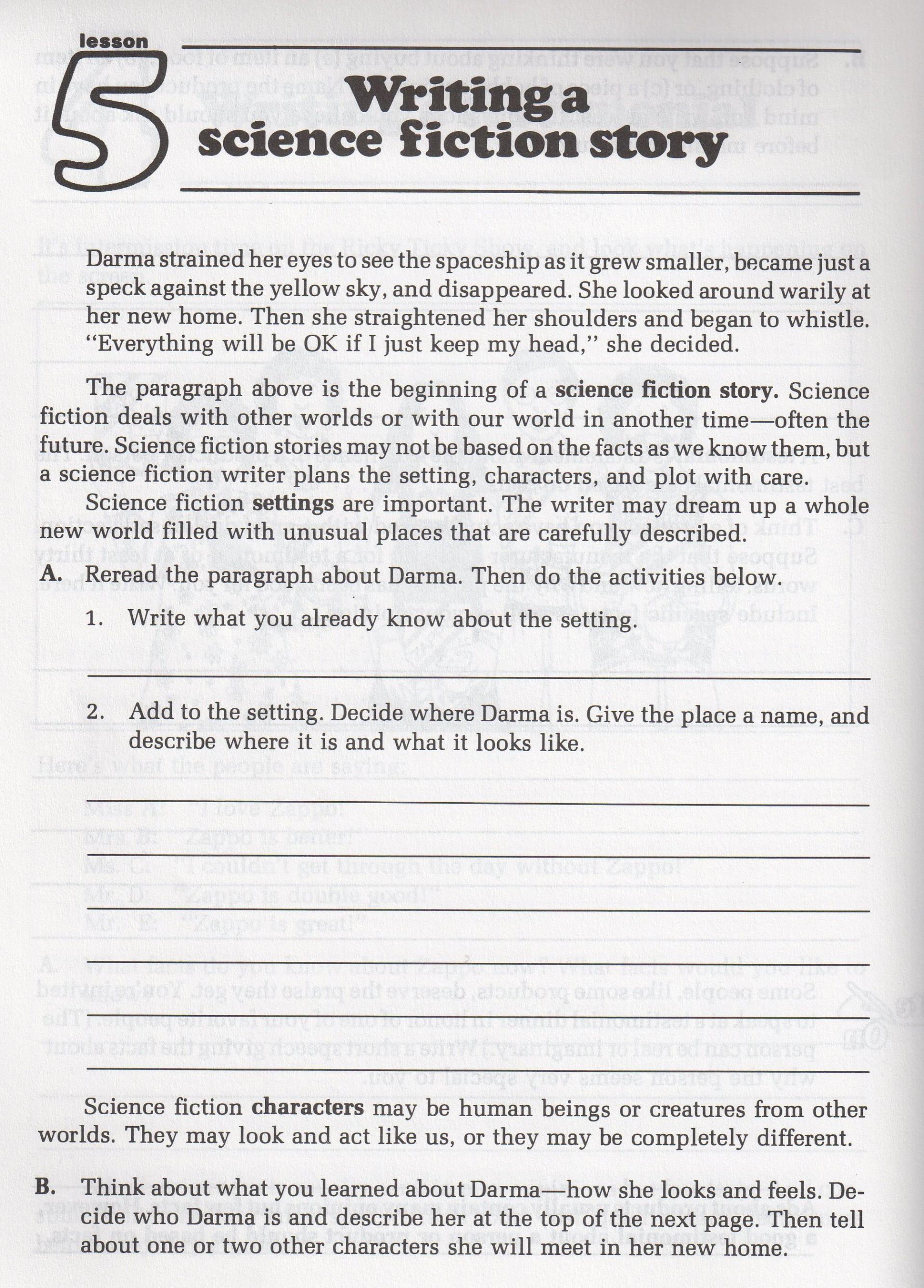 017 Writing Science Fiction Story Descriptive Essay Thesis Rare Statement Generator Pdf 1920