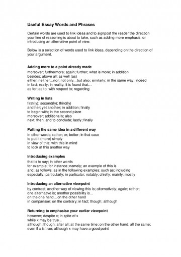 017 Writtenassignments2usefulessaywordsandphrases Phpapp02 Thumbnail How To Start An Essay Amazing A Definition Example Begin With Hook Dictionary 360