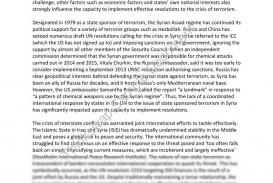 018 64303 Crisis Essay 1 International Cooperation Fadded31 Example Wonderful Terrorism Topics In English War On