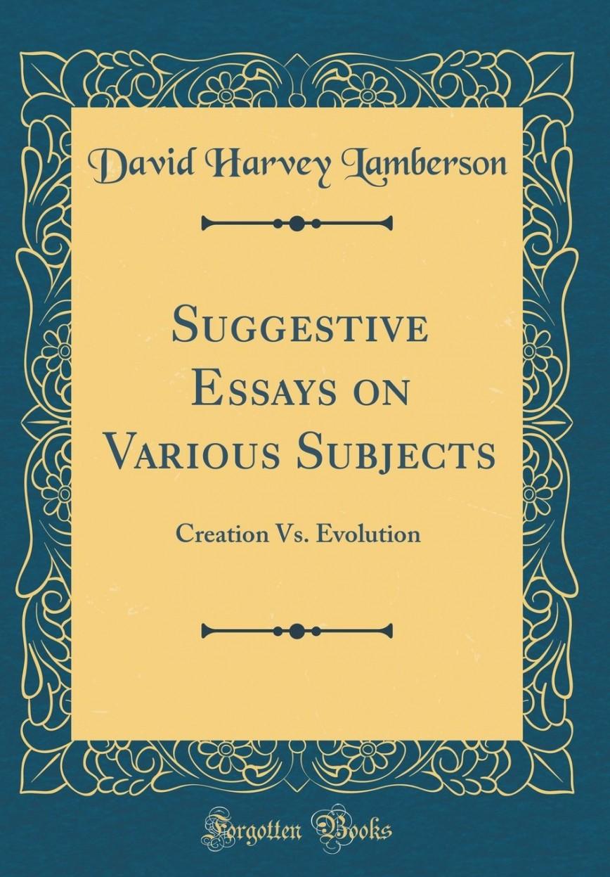 018 71btf9d2 Jl Creation Vs Evolution Essay Stupendous Essays On Origins Vs. Pdf