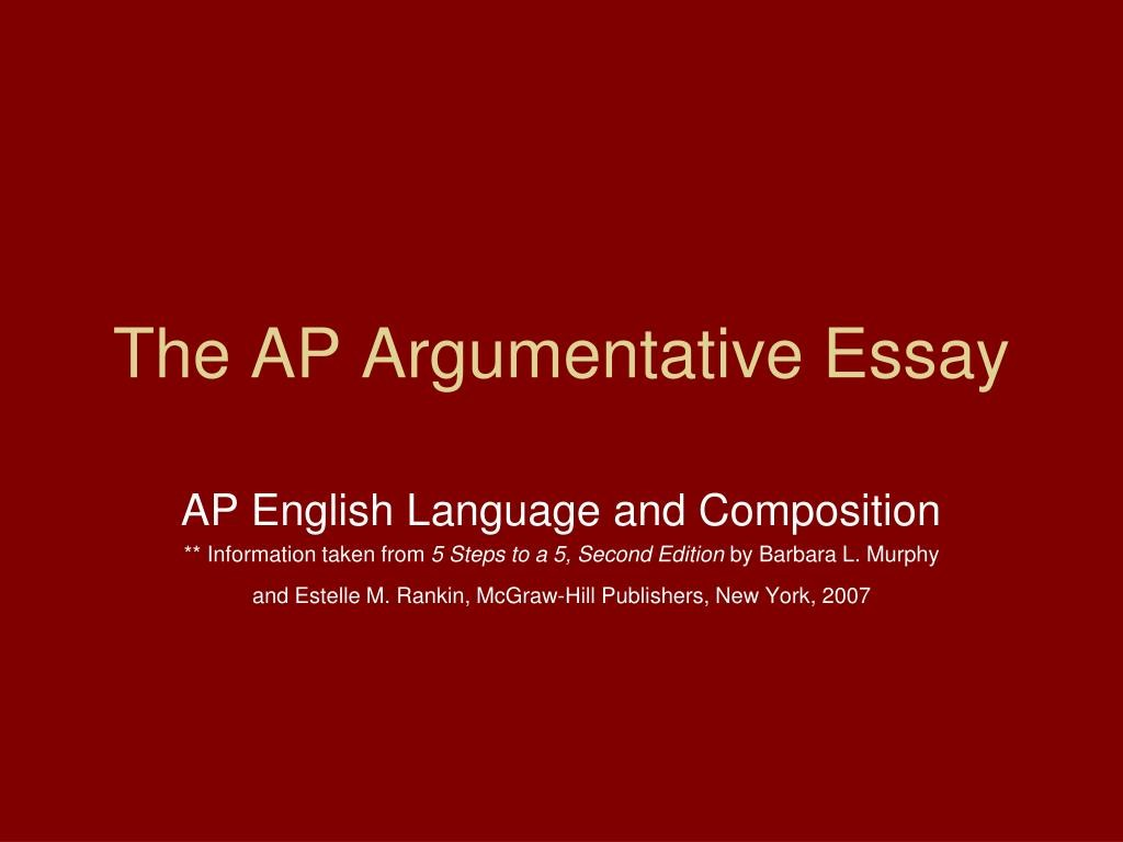 018 Argumentative Essay Powerpoint Example The Ap Frightening Presentation Slides For Middle School Large