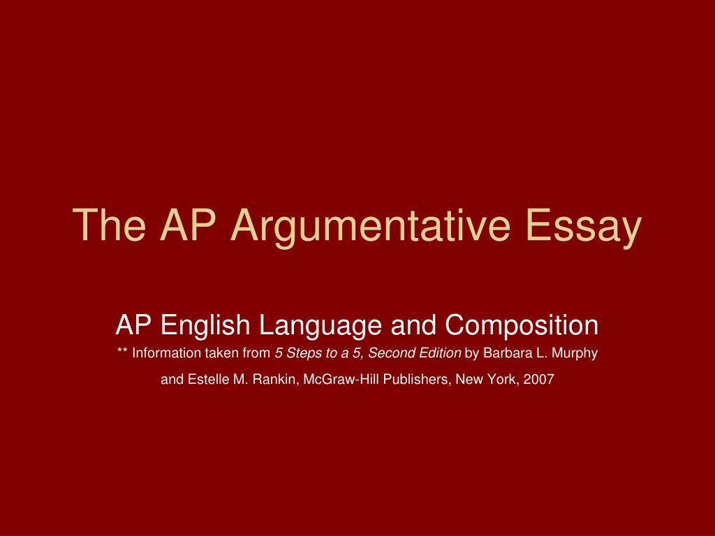 018 Argumentative Essay Powerpoint Example The Ap Frightening Presentation Slides For Middle School Full