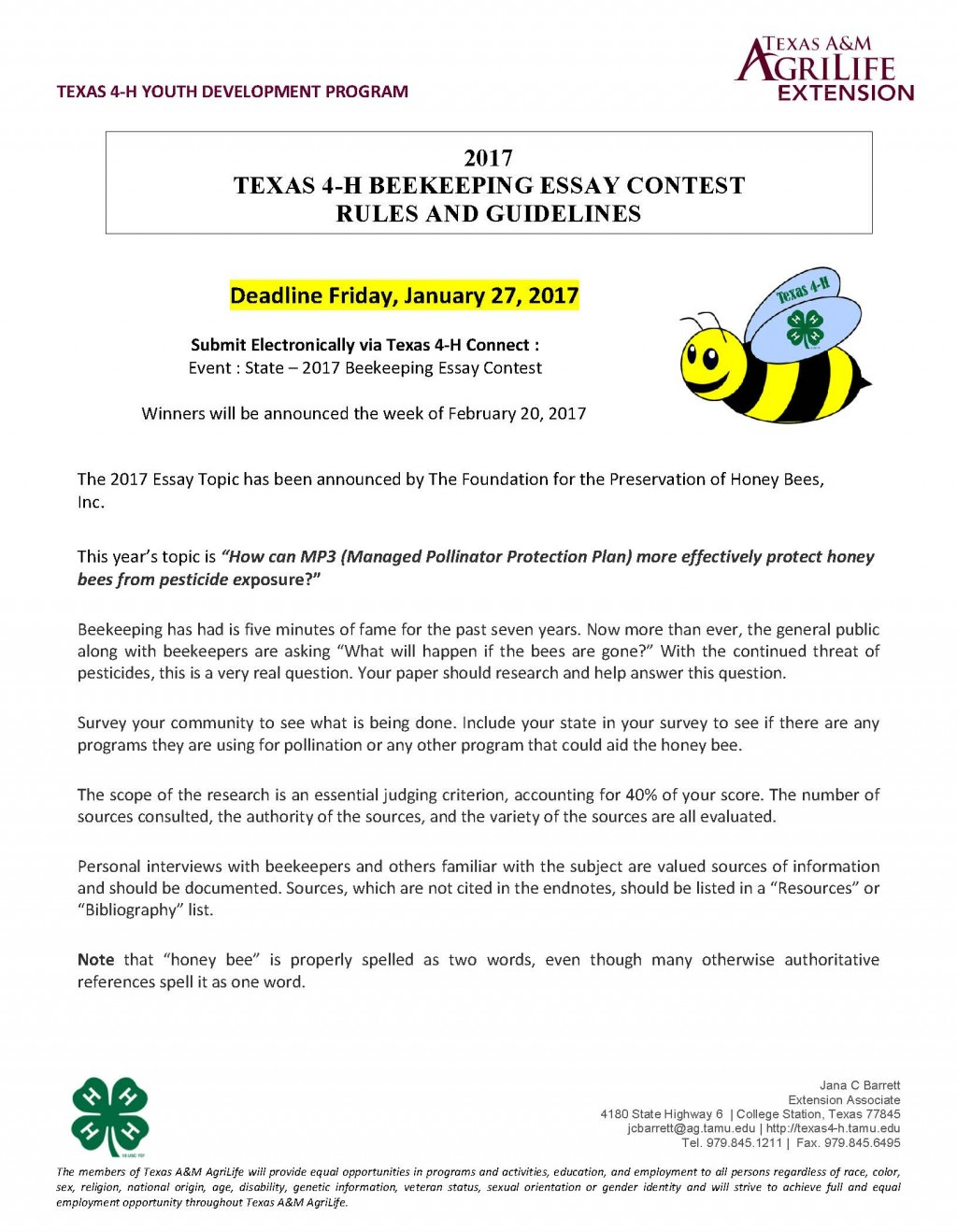 018 Beekeeping Contest Rules And Guidelines Page 1 Essay Example National Marvelous Peace 2019 Large