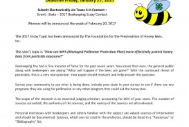 018 Beekeeping Contest Rules And Guidelines Page 1 Essay Example National Marvelous Peace 2019
