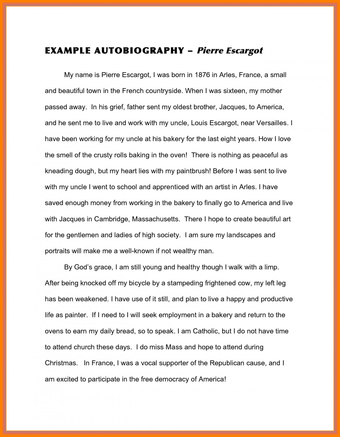 English Essays Book  English Essay Internet also Apa Format Essay Paper  Biography Essay Example Autobiographysample  Thatsnotus History Of English Essay