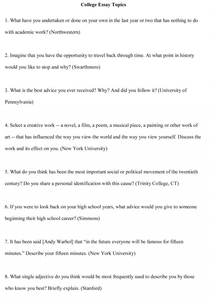 018 College Essay Topics Free Sample1cbu003d Personal Narratives High School Frightening Narrative Examples 728