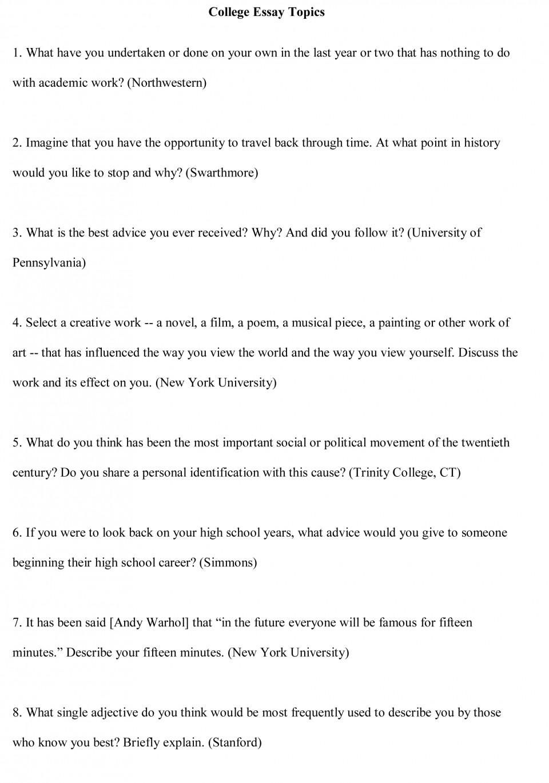 018 College Essay Topics Free Sample1cbu003d Personal Narratives High School Frightening Narrative Examples 960