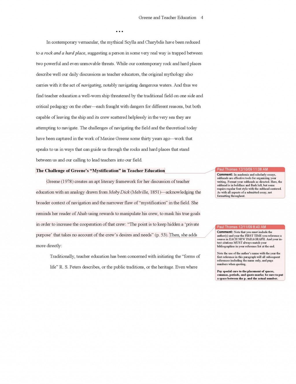 018 Essay Example Apa Sample 2010update4 College Format Stirring Template Admission Large
