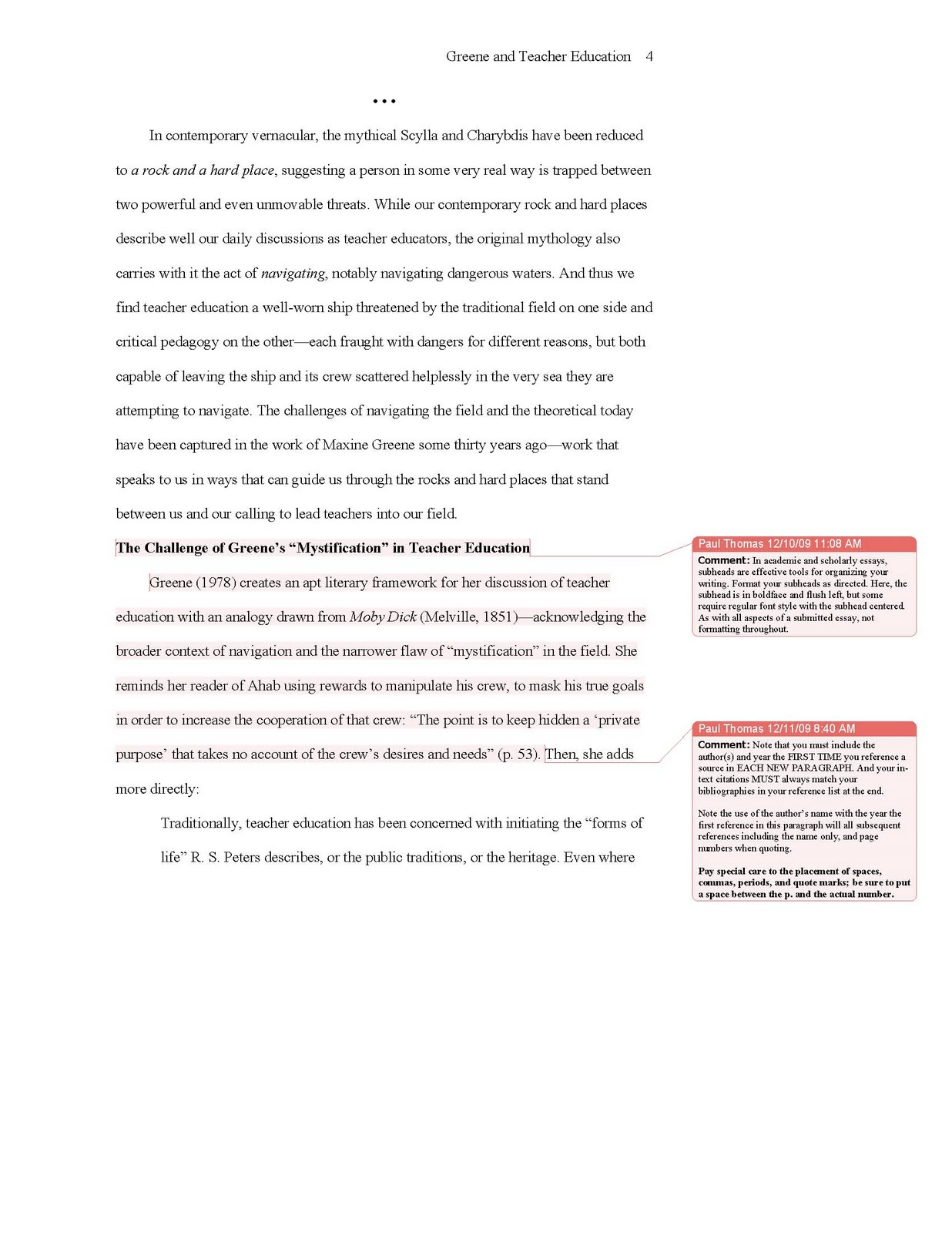 018 Essay Example Apa Sample 2010update4 College Format Stirring Template Admission Full
