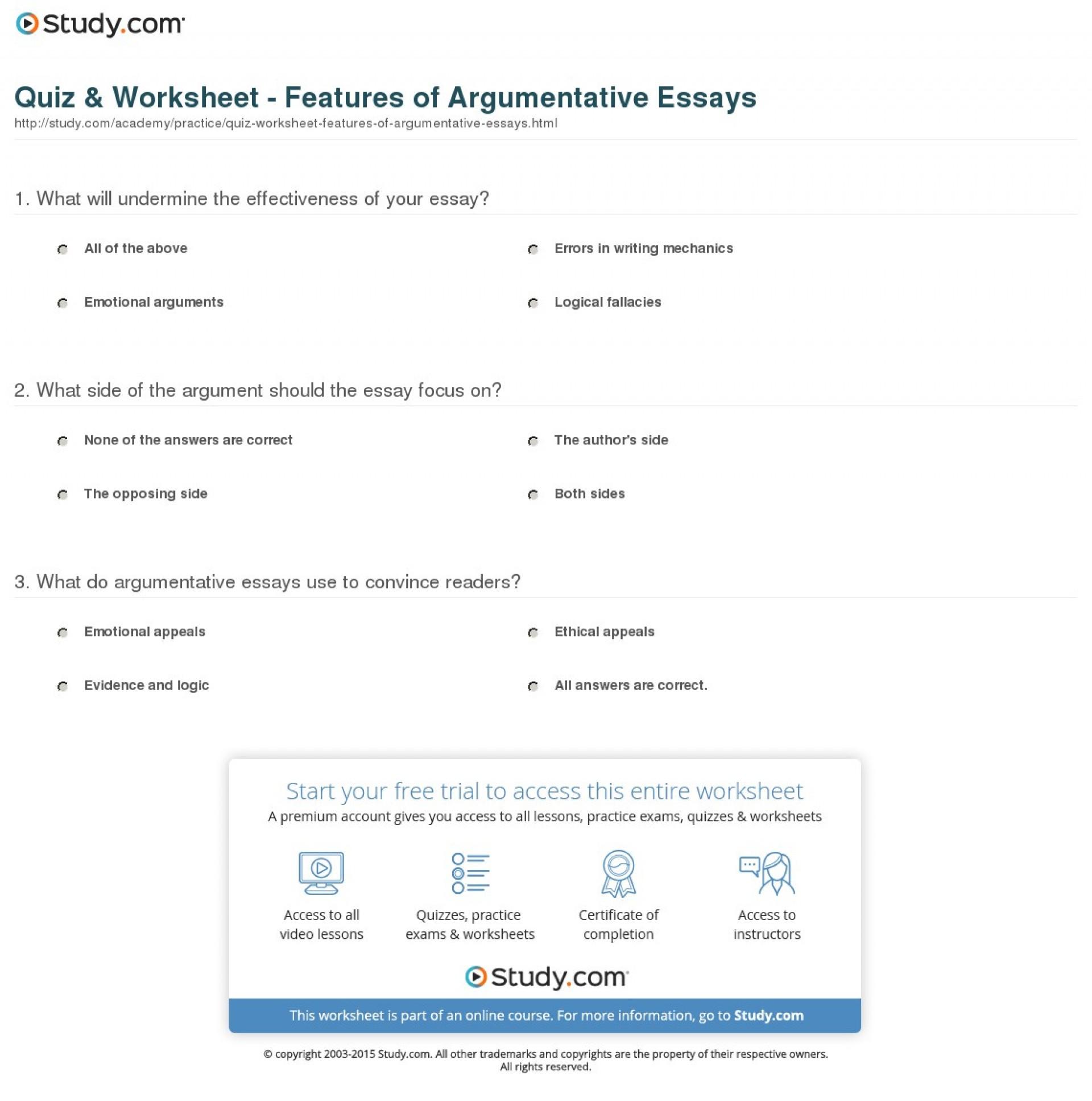 018 Essay Example Argumentative Definition Quiz Worksheet Features Of Fearsome Define Persuasive/argumentative Pdf 1920